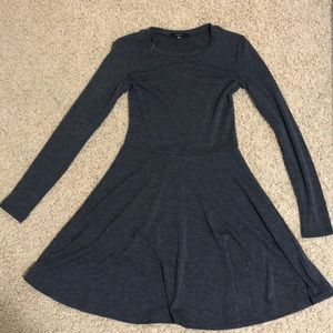 Charcoal forever 21 long sleeve skater dress